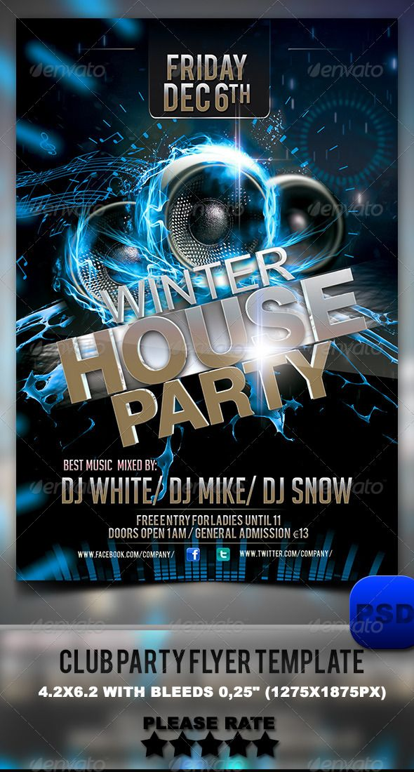 Club Party Flyer Template | Party flyer and Club parties
