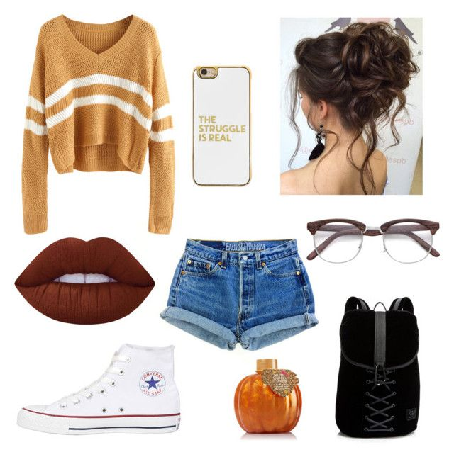 """🌌🌌"" by ruby-eliza-lewis ❤ liked on Polyvore featuring Converse, Puma, BaubleBar and Lime Crime"