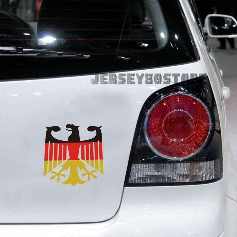 Germany German Flag Coat Of Arms Eagle Car Decal Bumper Sticker For Vw Benz Audi Car Decals Car Motorcycle Decals