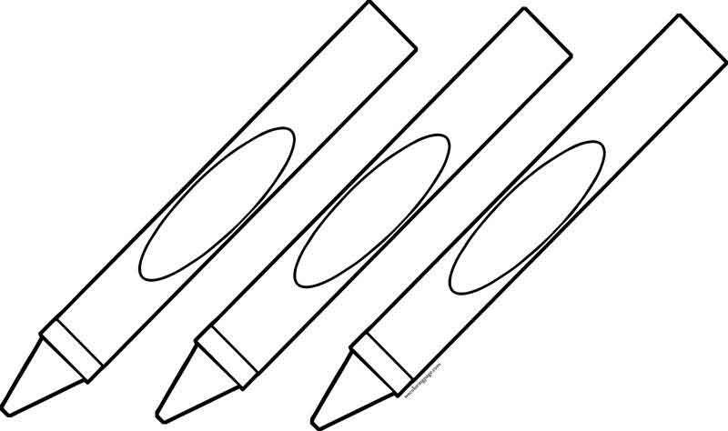 Three Crayon Pen Coloring Page Coloring Pages Color Pen
