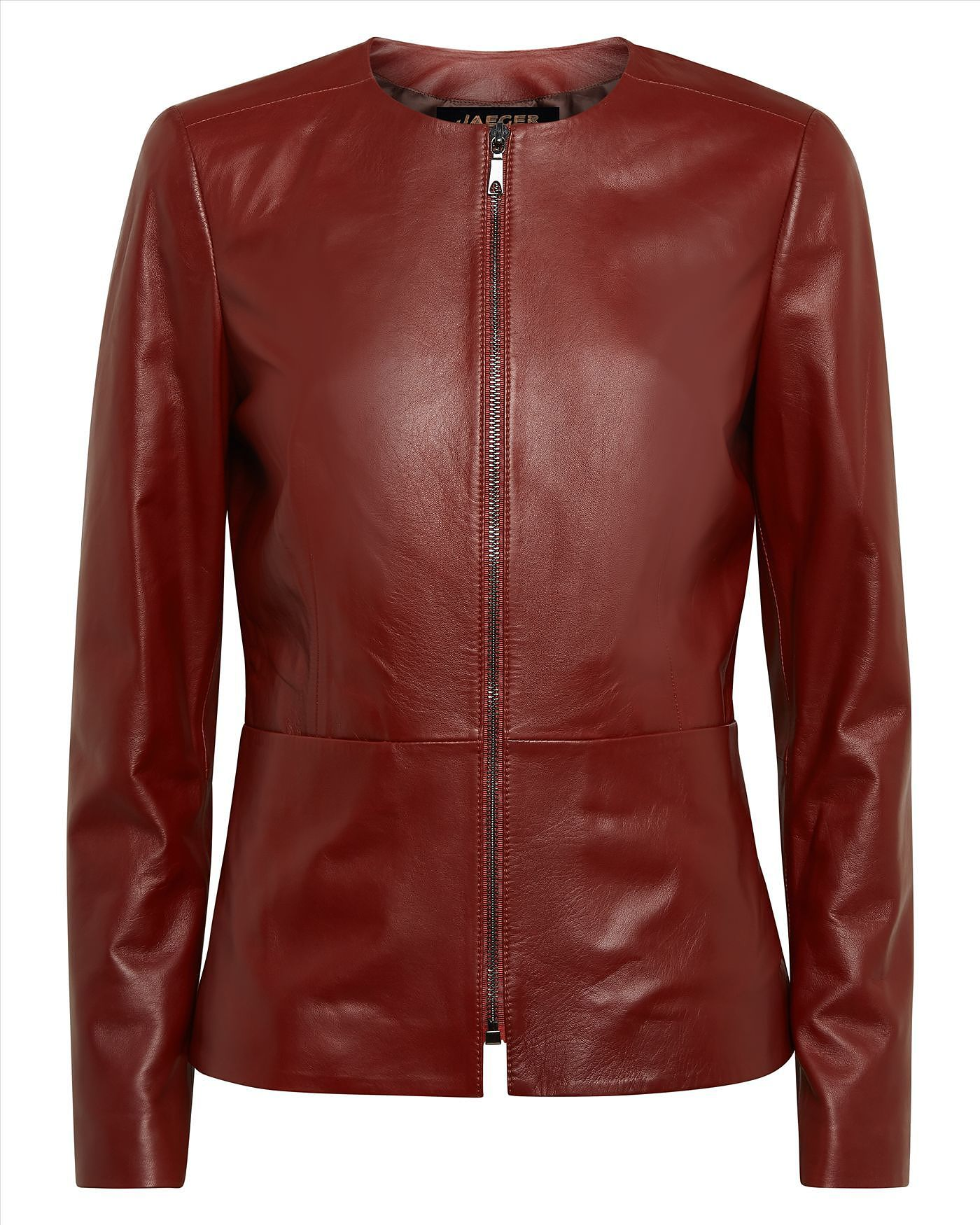 Womens brick red jacket from Jaeger £399 at