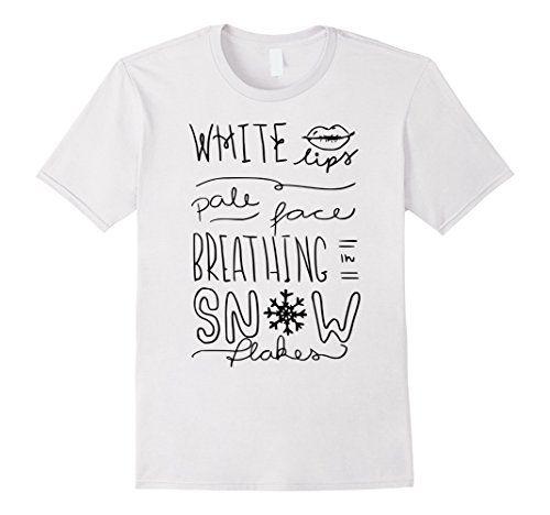 5aff9ed015 Ed Sheeran White Lips Pale Face Breathing In Snowflakes Song Lyrics T Shirt  Design.