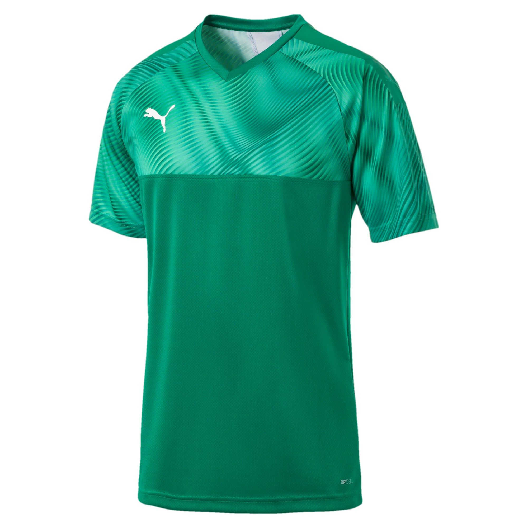 PUMA Cup Men's Football Jersey, Pepper Green/White, size Medium, Clothing