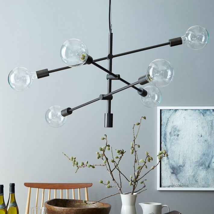 West elm mobile pendant antique bronze on sale now 199 · mobile chandelierblack