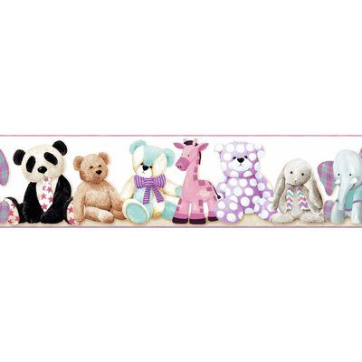 York wallcoverings room to grow teddy bear wall border color white york wallcoverings room to grow teddy bear wall border color white altavistaventures Image collections
