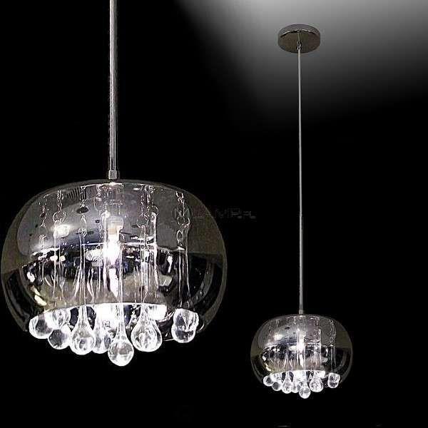Awesome LAMPA wisz ca MOONLIGHT P D Maxlight szklana OPRAWA kryszta owa ZWIS halogenowy crystal chrom