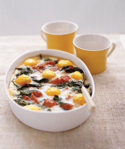 Photo of Baked Eggs With Spinach and Tomatoes