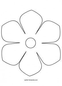 Printable Flower Flower Templates Printable Flower Template Printable Flower Pattern