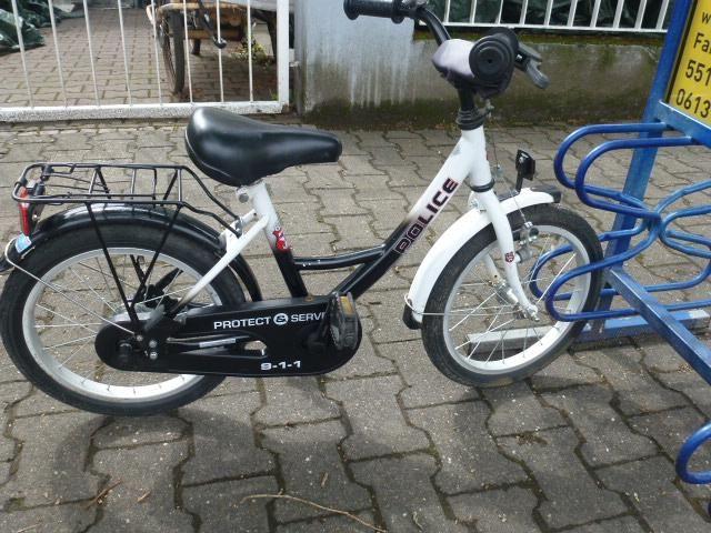 71 Polizei 16 Zoll Rucktrittsbremse Rh 29 Kinder Fahrrad