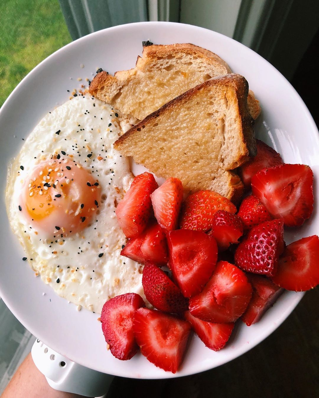 Annamarie On Instagram Happy Sunday Friends Sharing This Simple Breakfast From Earlier This Week Because I Aesthetic Food Yummy Food Healthy Snacks Recipes
