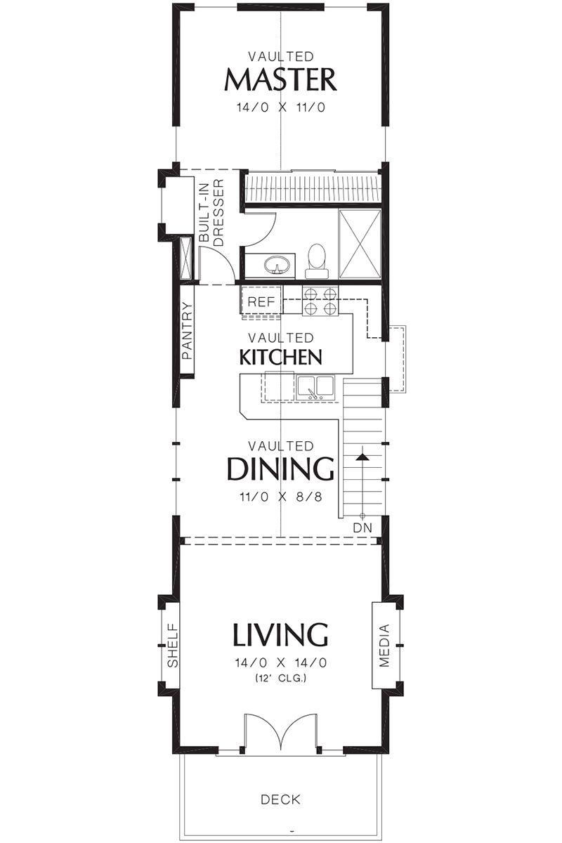 Narrow Lot House Plan 2559