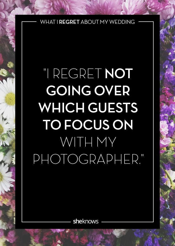 Wedding Day Regrets Tips Photos Of The Wrong Guests