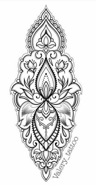 Photo of Lace tattoos and mandalas – more than 70 models – tattoo ide…