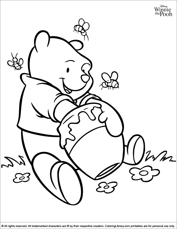 Winnie The Pooh Coloring Page Bear Coloring Pages Disney Coloring Pages Bee Coloring Pages