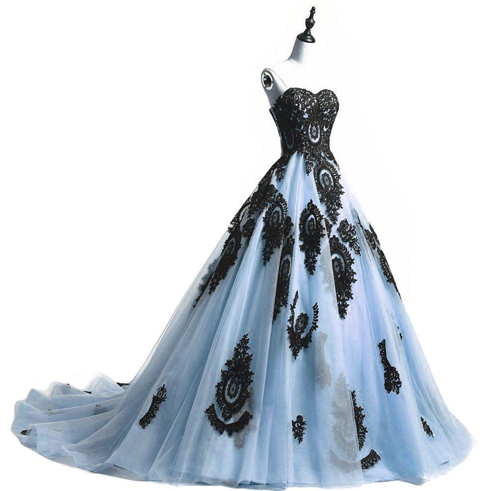 Plus Size Long Ball Gown Black Lace Gothic Corset Prom Evening Dresses Lavender Gothic Wedding Dress Lace Sweetheart Wedding Dress Black Wedding Dress Gothic [ 1001 x 1001 Pixel ]