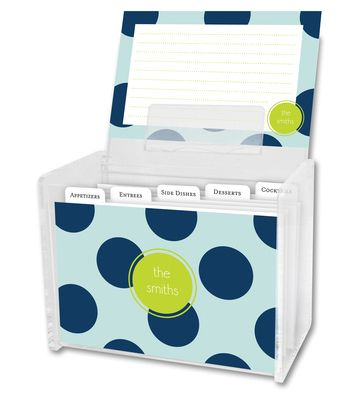 Jane Recipe Box and Recipe Cards
