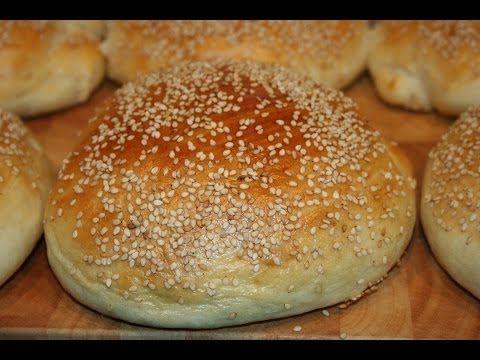 So machst Du die ultimativen Sesam Hambuger Brötchen - Sesame Seed Burger Buns - YouTube