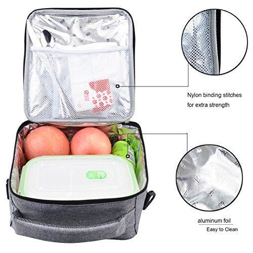 E-manis Insulated Lunch Bag Lunch Box Cooler Bag with Shoulder Strap for Men  Women Kids - Cool Kitchen Gifts d2c6c7882f18b