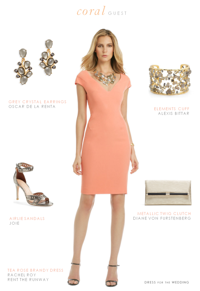 Coral Cocktail Dress Coral Cocktail Dress Casual Cocktail Dress Wedding Attire Guest