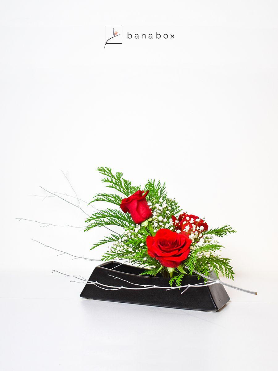 Tubayia Ikebana Bouquet de Fleurs 3 Anneaux