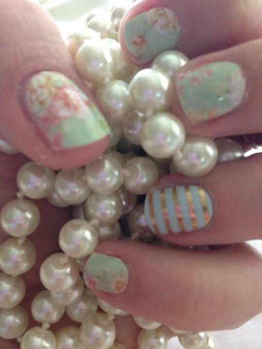 jamberry vintage chic, mint green/gold stripe - Bing Images ...