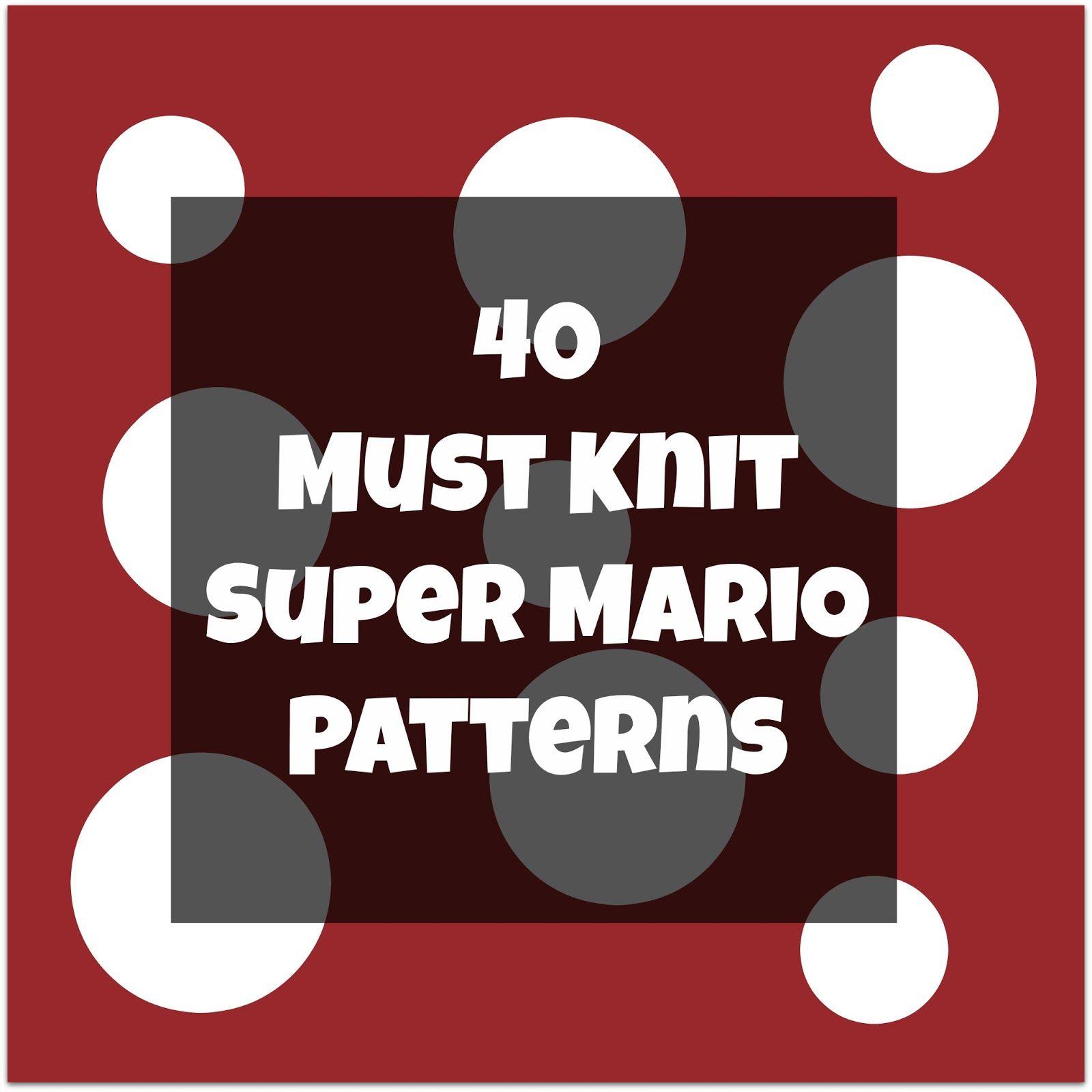 Super Mario, Star Trek, Doctor Who, Star Wars Knitting and ...