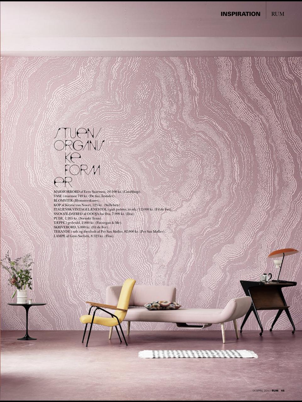 Danish #Rum interior design styling pink minimalist