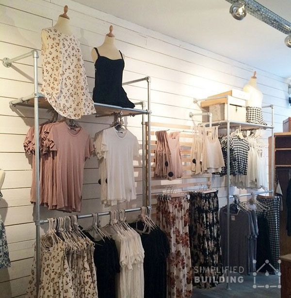 In This Article, We Talk About How You Can Use Wall Mounted Clothing Racks  To Help Achieve A Well Thought Out And Organized Layout In Your Store.