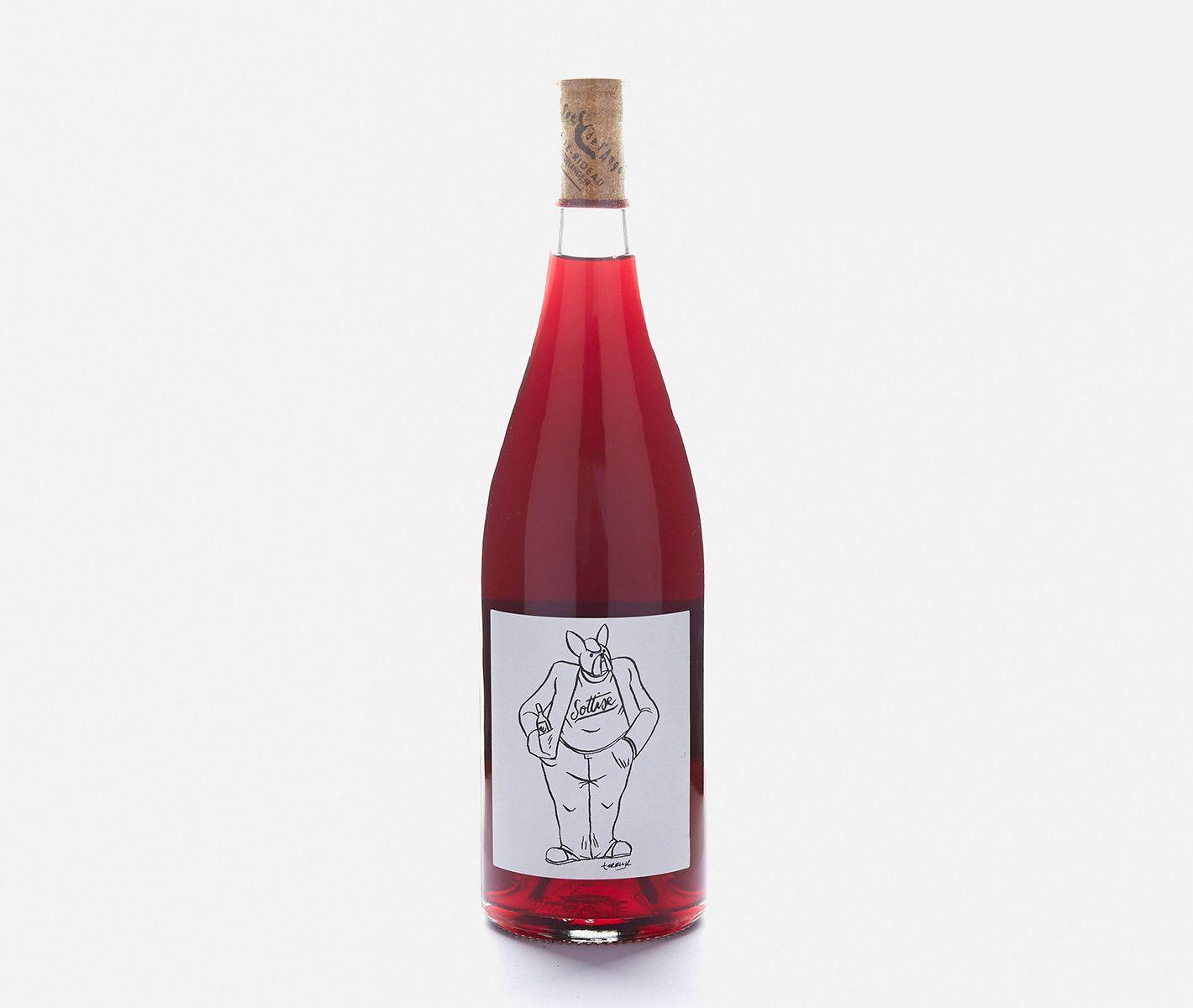 2015 Le Sot De Lange Sottise Wine Bottle Rose Wine Bottle Bottle