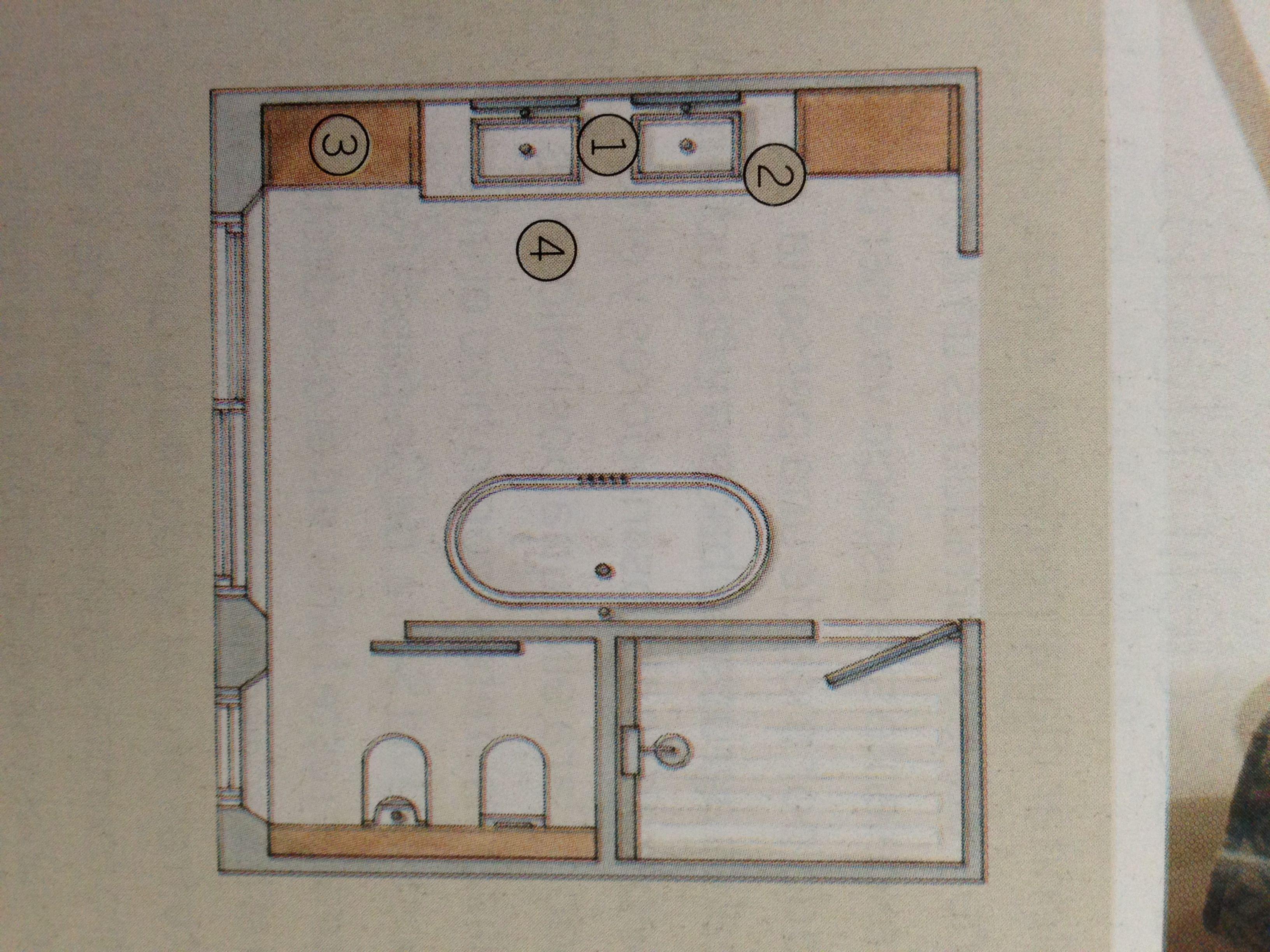 Voorbeeld Plattegrond Badkamer : Plattegrond voor badkamer inspiratie huis badkamer