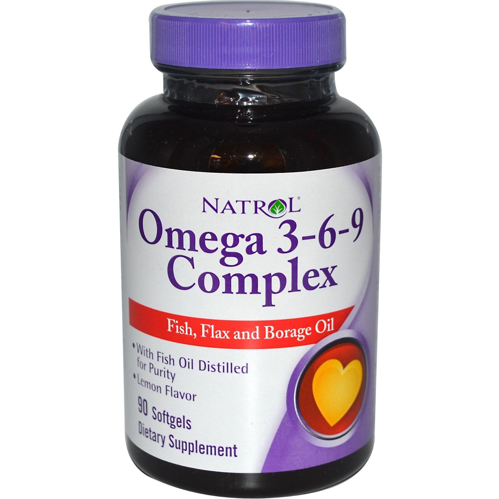 Natrol Omega 3 6 9 Complex Lemon 1 200 Mg 90 Softgels Health