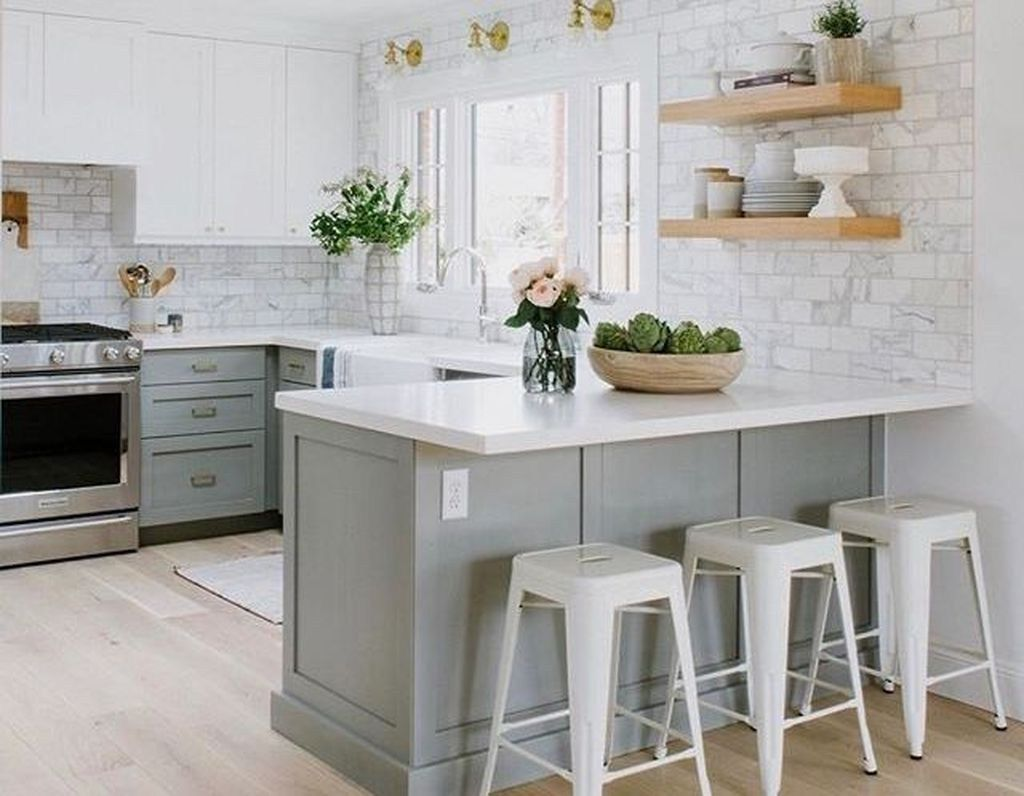 Elegant Small Kitchen Ideas Remodel 45 American Kitchen Design Kitchen Remodel Small Kitchen Design Small
