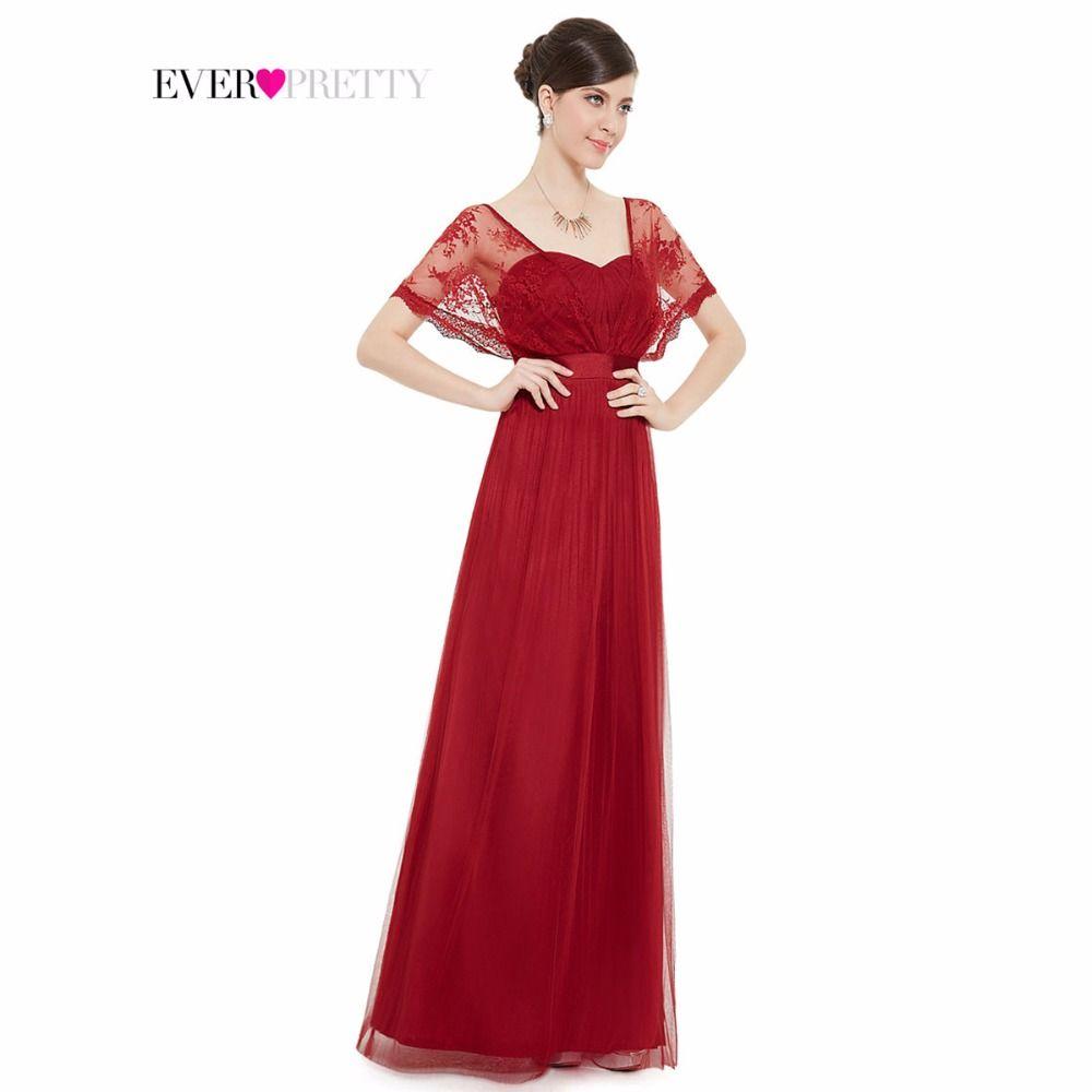 댄스 파티 드레스 2016 우아한 부르고뉴 레이스 랩 쉬폰 긴 레드 댄스 파티 드레스 HE08450RD 실제 사진 특별한 드레스