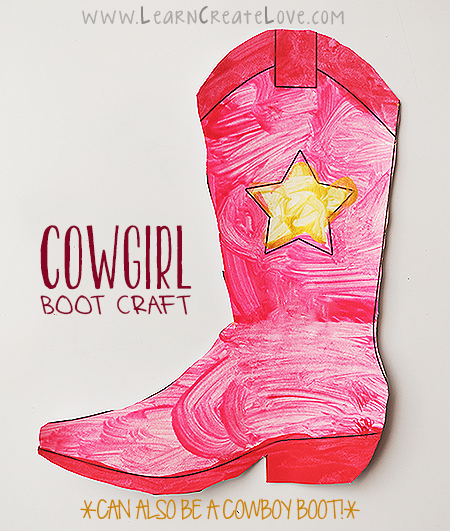 rodeo crafts for preschoolers printable cowboy boot craft learncreatelove 364