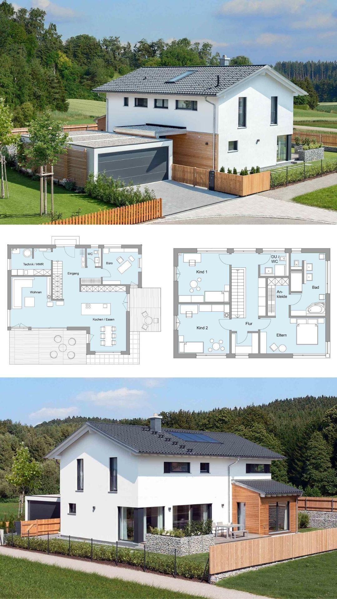 Klassisches Einfamilienhaus mit Mischfassade