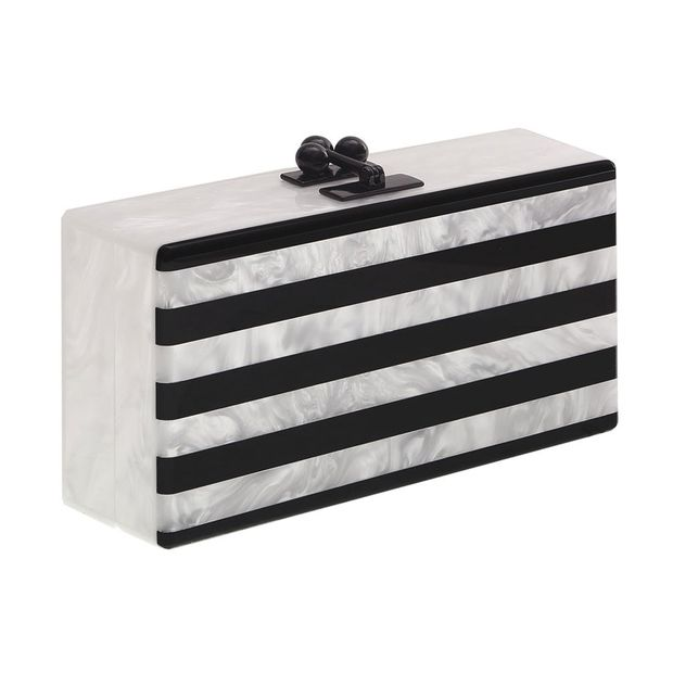 Jean Striped Clutch by Edie Parker