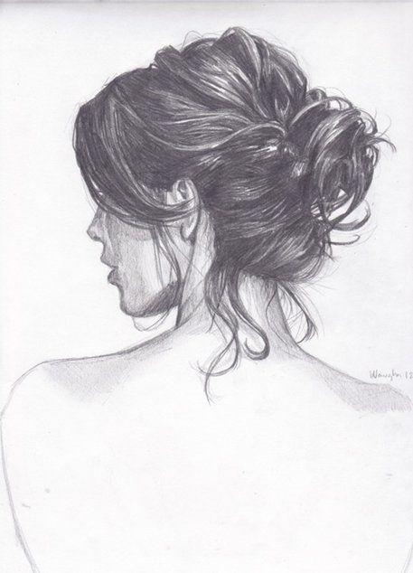 Medium Hair Styles For Women Braided Bun Hair How To Draw Hair Art Art Drawings