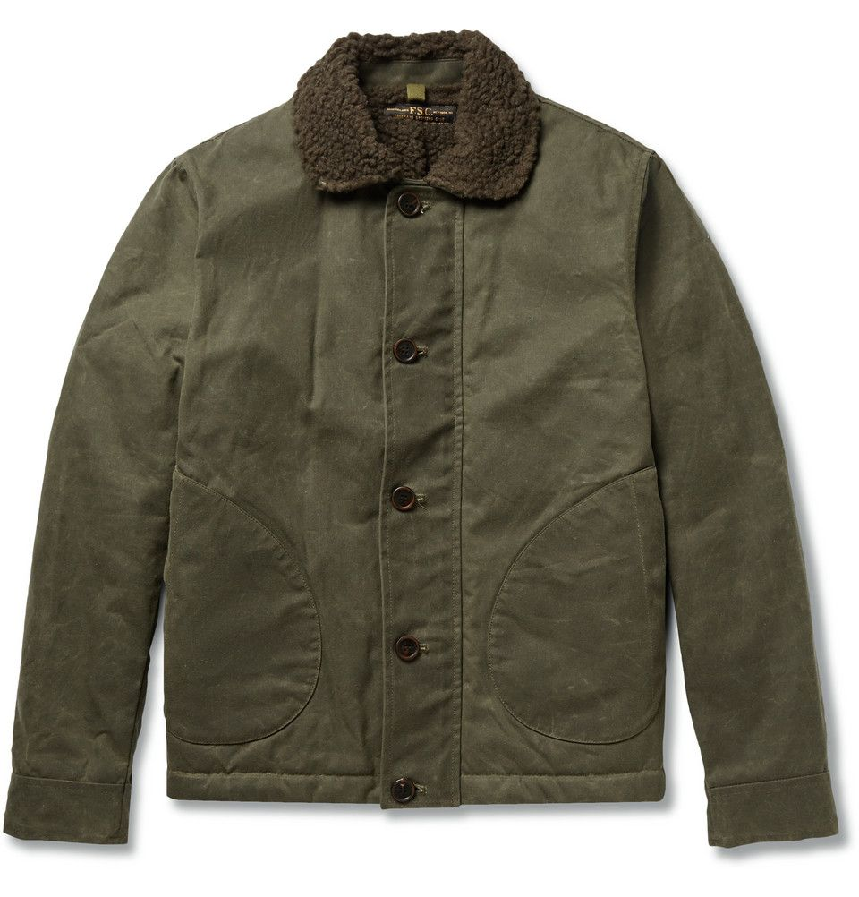 0cdff5a78 Freemans Sporting Club - Faux Shearling-Lined Waxed Cotton-Canvas ...