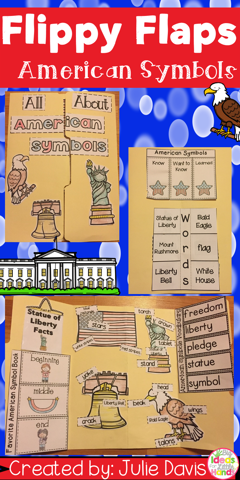 American Symbols Activities Interactive Notebook Lapbook Pinterest