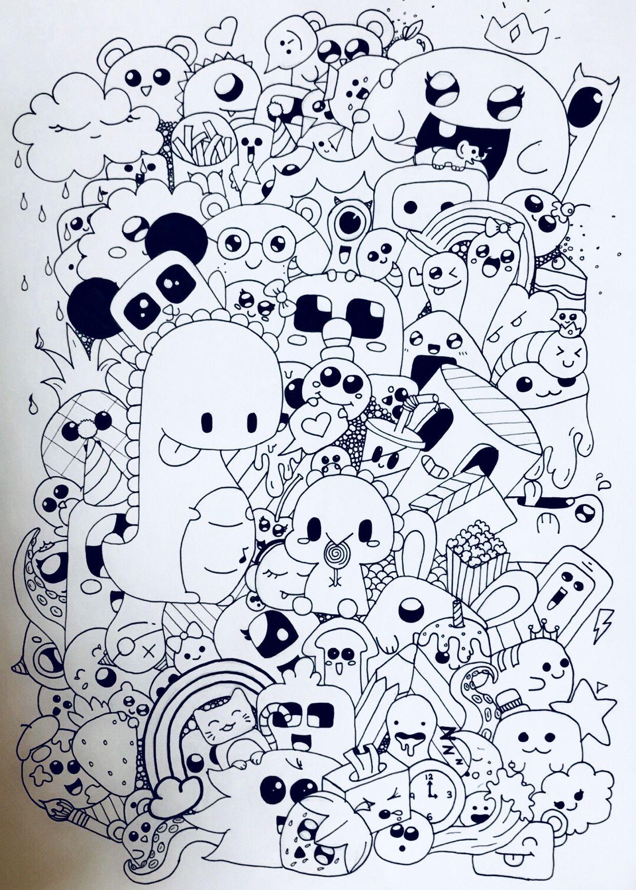 épinglé Par Hiba Sur Doodle Art دودلززز Coloriage