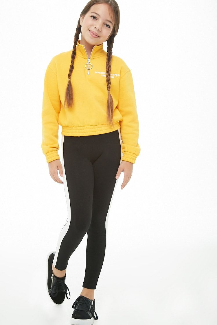 Girls Striped Trim Pants Kids Tween Fashion Outfits Cute Pants Outfits Tween Outfits