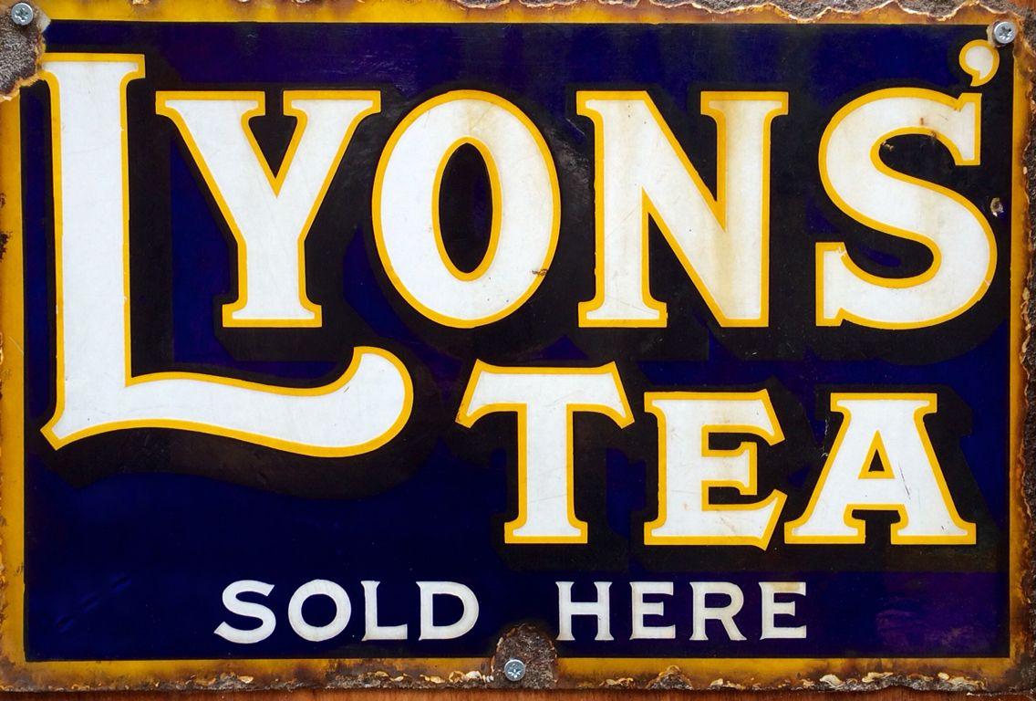 Lyons\' Tea enamel sign | Enamel Signs | Pinterest