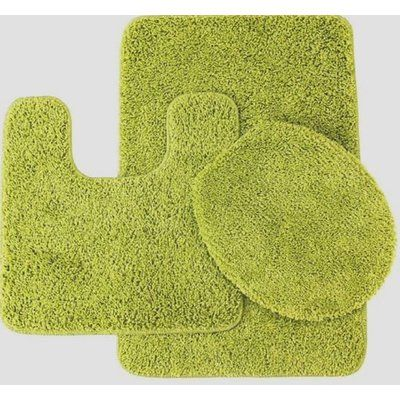 Zipcode Design Kober Solid 3 Piece Bath Rug Set Color Lime Green
