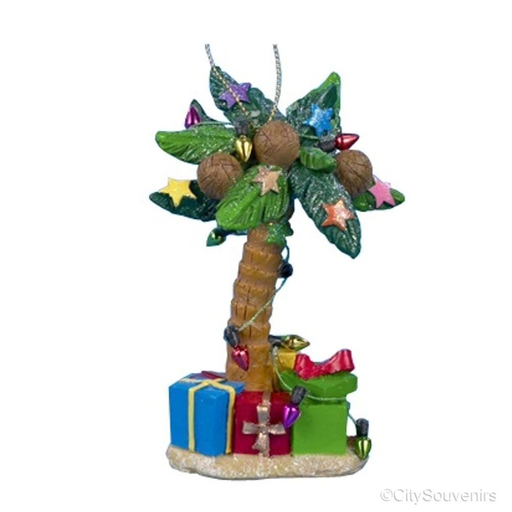 Palm Tree Christmas Ornaments