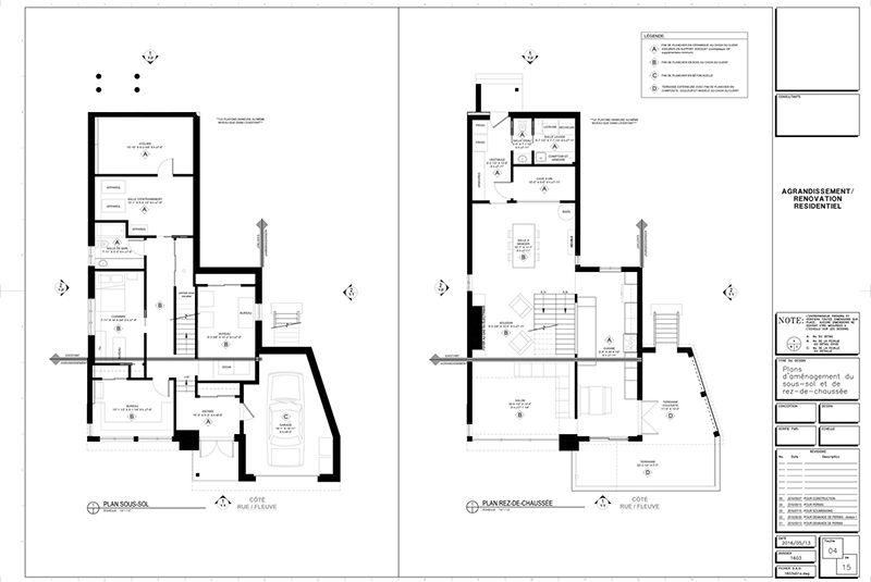 exemple de plans pour ajout d tage et rallonge de maison