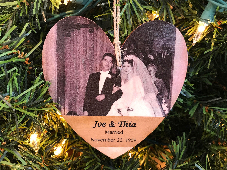 Personalized Anniversary Ornament, Anniversary Photo Ornament ...