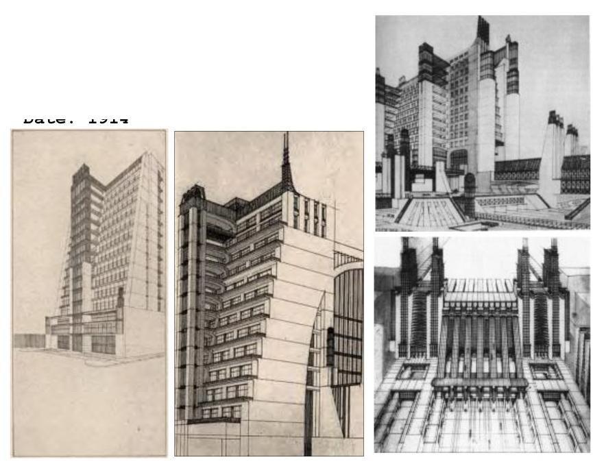Antonio Sant'Elia set back skyscraper