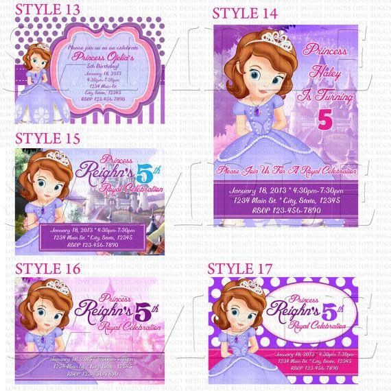 Sofia The First Invitation Sofia Birthday By Lovebuggydesigns 9 99