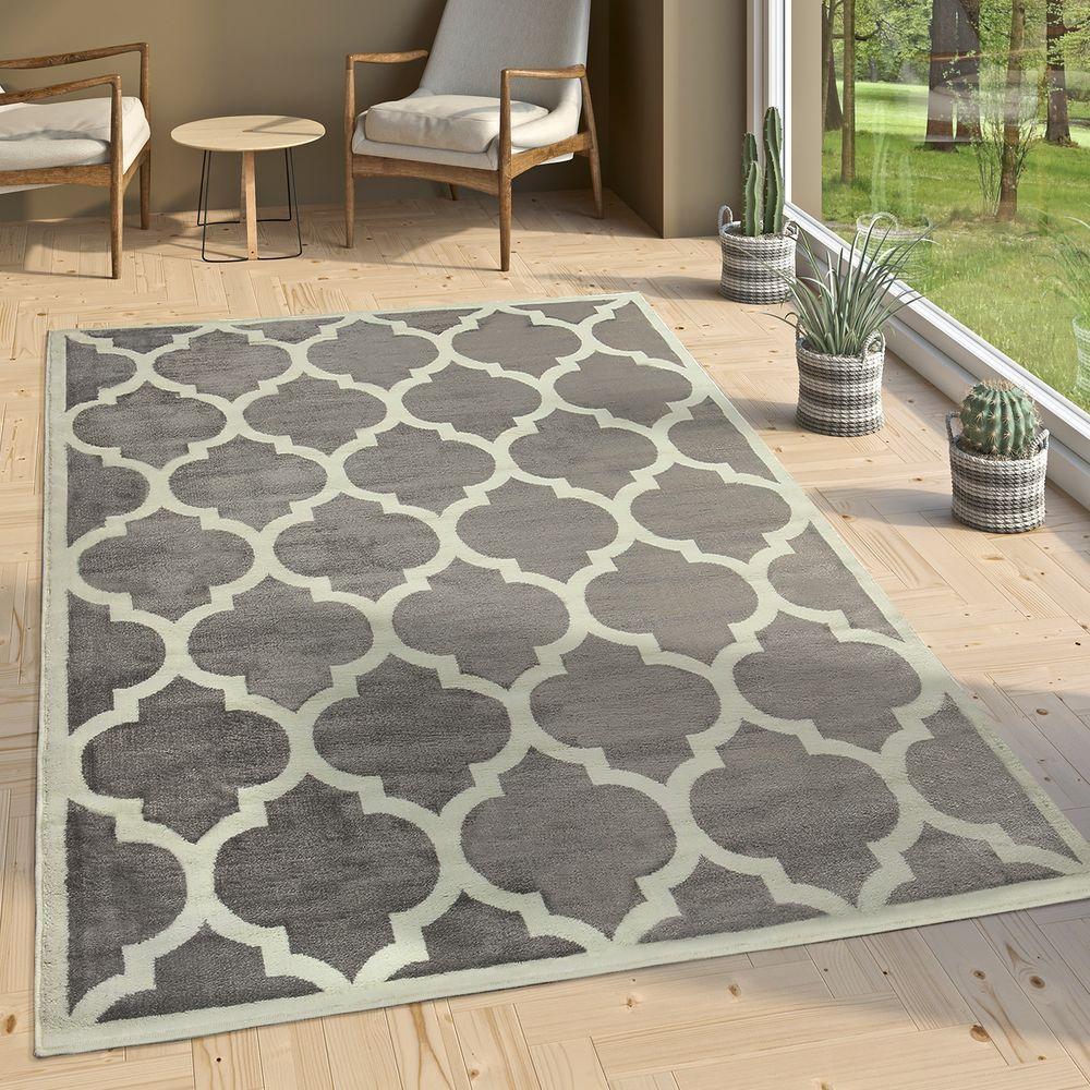 Designer Teppich Marokkanisches Muster Grau Teppich Design Marokkanische Muster Teppich Braun