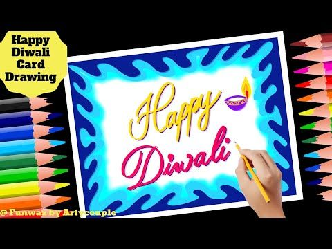 DIY Diwali greeting card drawing for Teacher | Happy Diwali Greeting card ideas